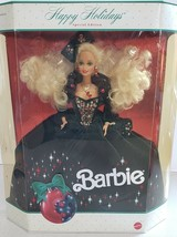 Happy Holidays Special Edition 1991 Barbie Doll Damaged Box Yellow Film - $24.75