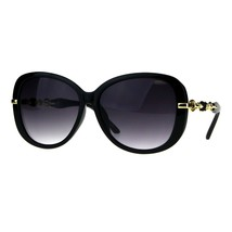 Womens Classy Fashion Sunglasses Rose Chain Decor Temple UV 400 - $11.95