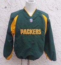 Vintage Green Bay Packers Pull Over Jacket Men Size M -S 14 - 16 Reebok Pro Line - $9.49