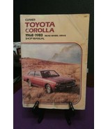 CLYMER Shop Manual - TOYOTA COROLLA  1968-1983 Rear Wheel Drive - $9.10
