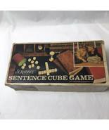 Scrabble Sentence Cube Game Vintage COMPLETE - $14.84