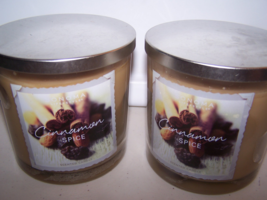 Lot of 2 Sonoma Life & Style Cinnamon Spice Scented Jar Candle w Lid 14 oz - $27.99
