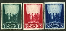 1945 Christ the Redeemer Set of 3 Vatican Stamps Catalog Number 99-101 MNH
