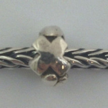 """Authentic Trollbeads Sterling Silver Letter """"X"""" Charm 11144x, New - $16.38"""