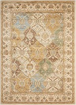Nourison Modesto MDS04 Beige Rectangle Area Rug, 3-Feet 11-Inches by 5-F... - $69.34