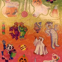 VINTAGE LISA FRANK Halloween Hip Hop Panda Bear Mint Complete Sticker Sheet S317 image 5