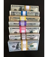 28.600 PROP MONEY REPLICA 7 STACK New Style All full Print For movie Vid... - $140.99