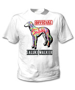Saluki - official walker c - NEW COTTON WHITE TSHIRT - $19.53