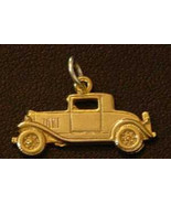 Ford Model A Car Replica Pendant Sterling Silver Charm 24kt Gold Plated ... - $15.31