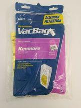 3 Kenmore Vacuum Cleaner Bags Type U O 50688 50690 5068 Allergen Micro Liner image 7