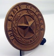 "Cast Iron- Large Texas State Seal  8-1/2"" Dia Western Wall Decor - $24.74"
