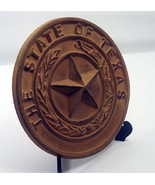 """Cast Iron- Large Texas State Seal  8-1/2"""" Dia Western Wall Decor - $24.74"""