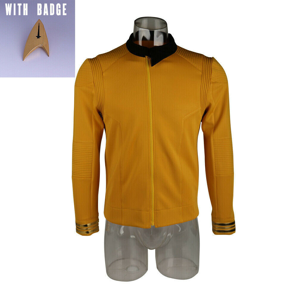 Primary image for Season 2 Captain Pike Star Trek Discovery Starfleet Costume Uniform with Badge
