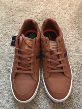 Brown Lace Strauss Size Co Fashion Leater 12 Up Levi PU Sneakers Men's qUHfwt