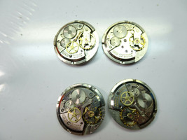 LOT OF 4 BULOVA 11AF AND 11AFC 17 JEWEL WATCH MOVEMENTS FOR RESTORATIONS - $120.94