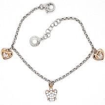 Silver 925 Bracelet, Heart Angel, Zircon, Roberto Giannotti, GIA333 - $122.59