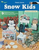 """Leaflet """"Snow Kids"""" The Needlecraft Shop - Plastic Canvas - Gently Used - $8.00"""