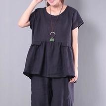 Top Fashion 2018 New ZANZEA Women O Neck Short Sleeve Loose Cotton Linen Shirt S - $30.18+
