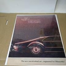 1966 Oldsmobile Toronado 2 dr ht car ad - $7.92