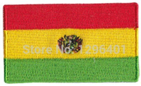 Bolivia Embroidered Patch - 2 1/4 x 1 1/4 ""