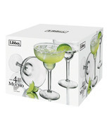 Libbey Mucho Margarita Glasses (Set of 4) NEW IN THE BOX (s)  - £31.11 GBP