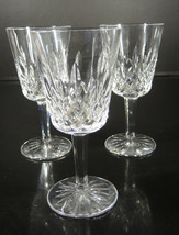 Three Waterford Water Goblets - Lismore Pattern - $71.24