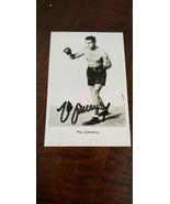 Max Schmeling Autografato Auto Foto Heavyweight Champion Boxe Boxer Germ... - $40.01