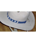 American Made!  Coquina Shell Hat-Band with  Genuine Blue Suede Leather ... - $15.95