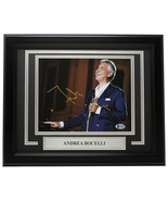 Andrea Bocelli Signed Framed 8x10 Photo BAS T14664 - $563.30