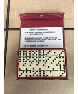 Vintage Double Six Dominoes by Cardinal in Red Vinyl Travel Case - $12.00