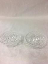 Vintage Cut glass crystal bowls Clear star Mid Century 4.5 inch - $39.59
