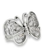Stunning 925 Sterling Silver Filigree Butterfly Ring Size 6-10 - $22.99
