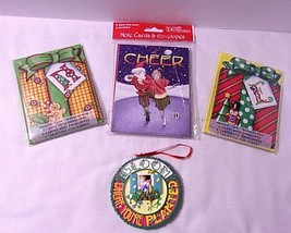 Christmas Mary Engelbreit Lot Bloom Planted Ornament + 3 Packs NEW Note ... - $35.10