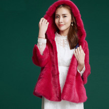 Mink Fur Coat SAGA fur coat  Full Skin Hooded MEXA Jasmine - $1,435.50