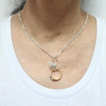 Silver Pine Tree Ring Holder Necklace image 4