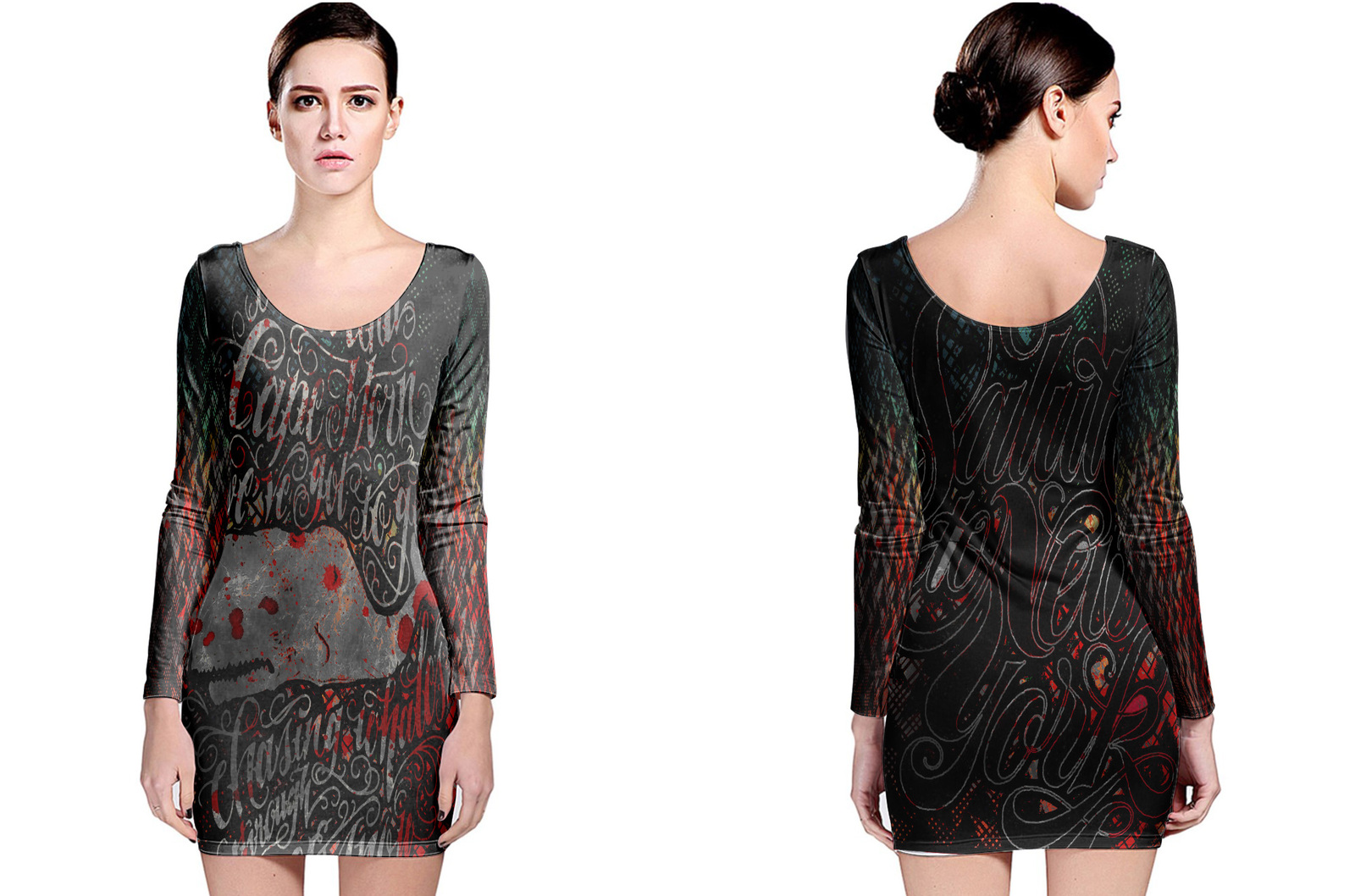 Primary image for Retro Collection #6 Women's Long Sleeve Bodycon Dress