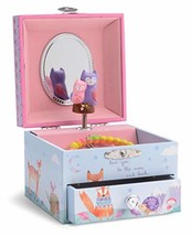 Jewelkeeper Musical Jewelry Box with Spinning Owls, Woodland Design with - $20.36