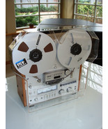 NEW Grey Custom Dust Cover with Reel Extensions for AKAI Tape Recorder G... - $187.11