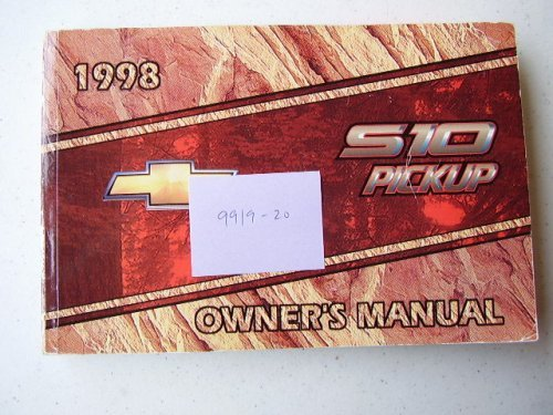 Primary image for 1998 Chevrolet S10 Pickup Owners Manual [Paperback] Chevrolet