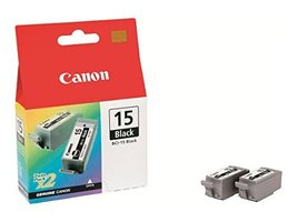 Canon BCI-15 Black Ink Cartridge (Twin Pack) - $28.31