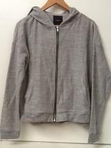 Forever 21 LONG-SLEEVE Full Zip Gray Hoodie Hooded Sweater Nwt New Sz M Medium - $18.95
