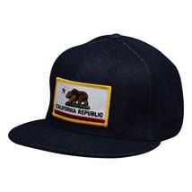 California Republic SnapBack by LET'S BE IRIE - Blue Denim Hat - £16.59 GBP