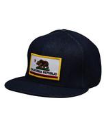 California Republic SnapBack by LET'S BE IRIE - Blue Denim Hat - £15.30 GBP