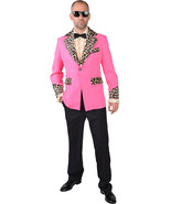 Teddy Boy / Rockabilly / Showman JACKET -PINK / Leopard Print , XS - XXL  - $43.09+