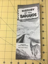 Vintage History of the Badlands by Ted Hustead Wall Drug Store Wall Sout... - $12.69