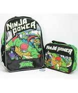 Teenage Mutant Ninja Turtles Ninja Power TMNT Insulated Lunch Bag & Back... - $39.57