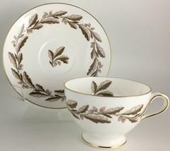 Minton Elizabethan Oak Brown S-642 Cup & saucer - $10.00