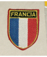 Francia France Flag Colors Embroidered Sewn World Travel Patch - $9.40