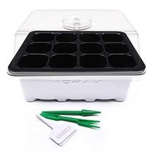 KORAM 10 Sets Seed Starter Tray 120 Cells Seed Tray Plant Germination Ki... - $27.55 CAD