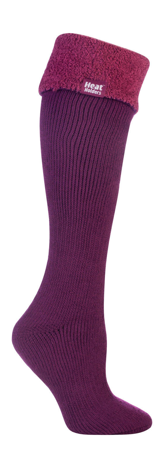 Heat Holders - Ladies Thick Long Knee High Thermal Wellington Boot Socks Fuchsia